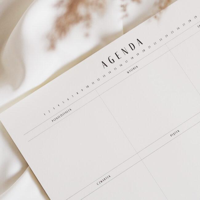 Planer biurkowy tygodniowy Agenda