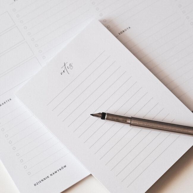 Notes w linie