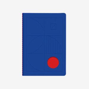 Notes niebieski Bauhaus