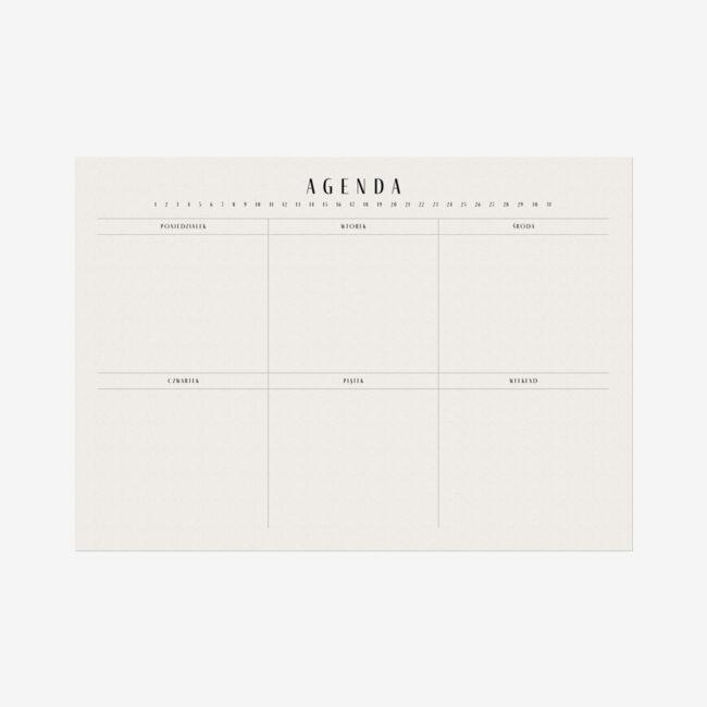 Planer tygodniowy biurkowy
