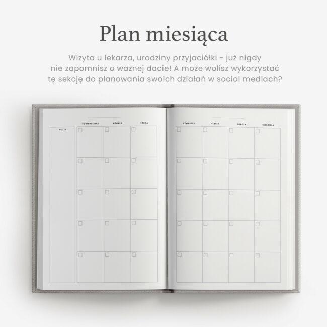 Planowanie miesiąca planer
