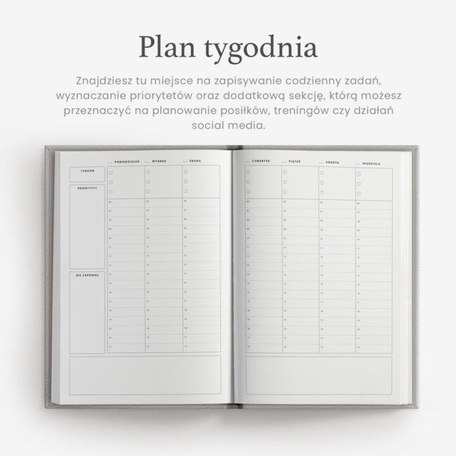 Planer tygodniowy
