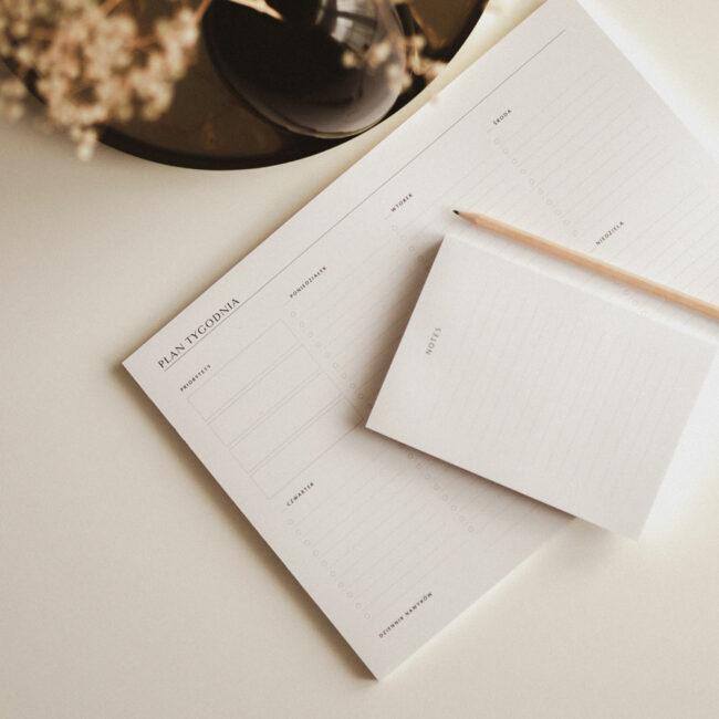 Planer tygodniowy notes