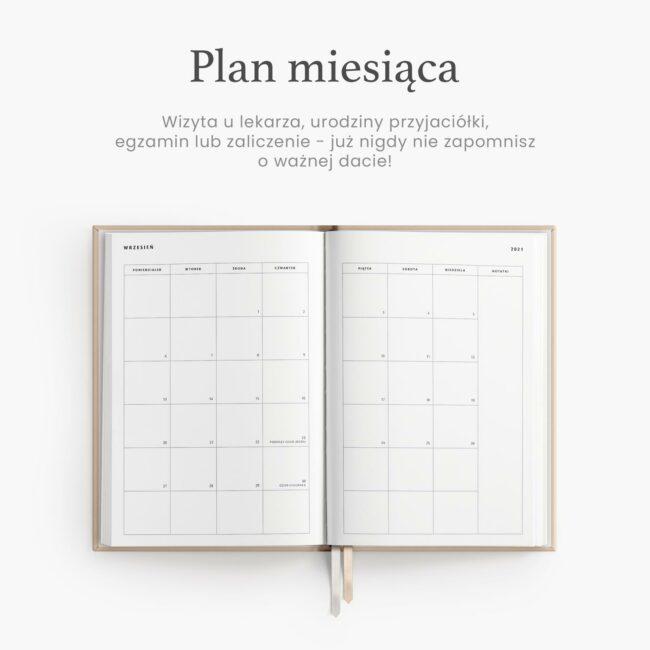 Planowanie miesiąca w planerze