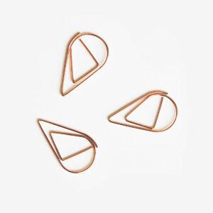 Spinacze różowe złoto kształty