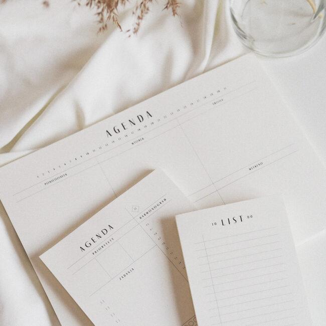 Zestaw notesów do planowania