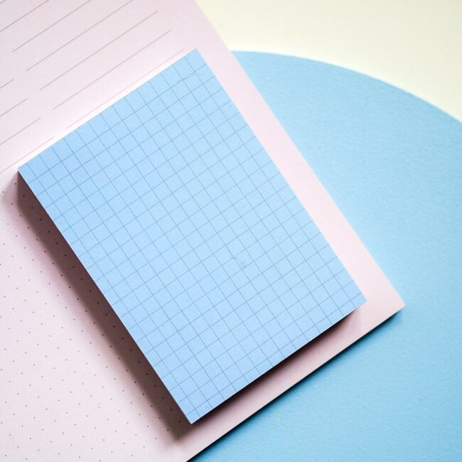 Notes w kratkę niebieski