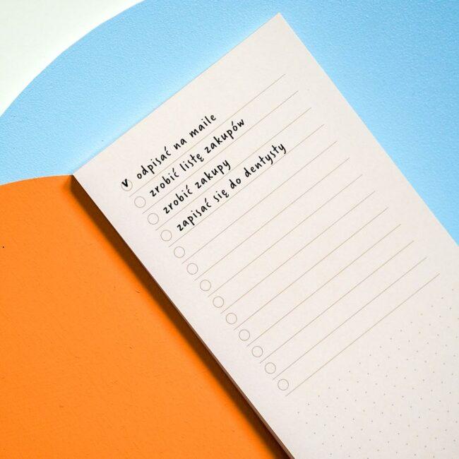 Kolorowa lista zadań notes