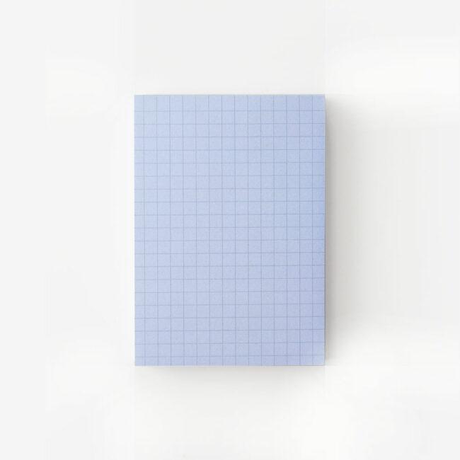 Notesik w kratkę - niebieski