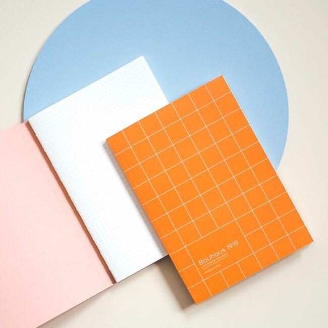 Notes w kropki pomarańczowy Bauhaus