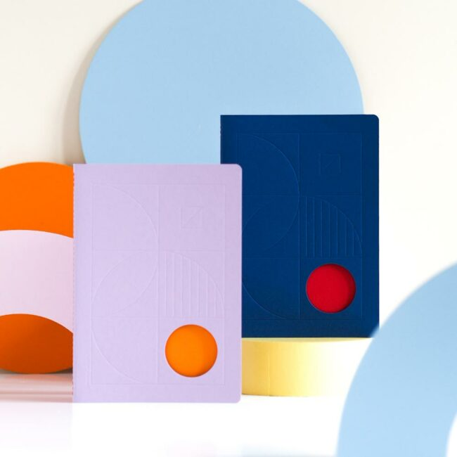Notes Bauhaus fioletowy planer