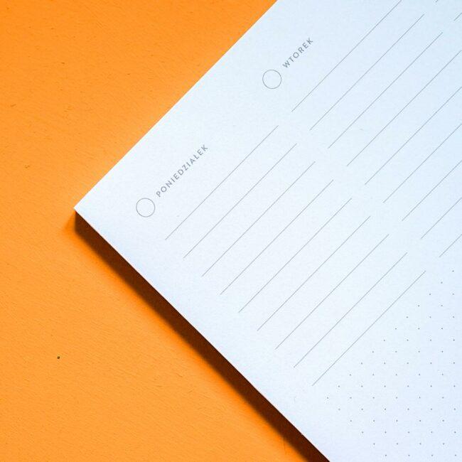 Notes biurkowy tygodniowy ożowyr