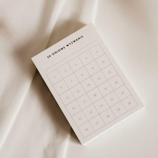 30-dniowe wyzwanie planer