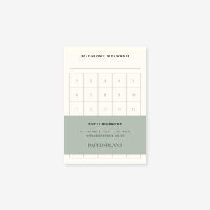 30-dniowe wyzwanie notes