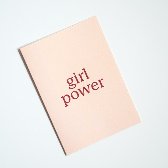 Kartka Girl Power