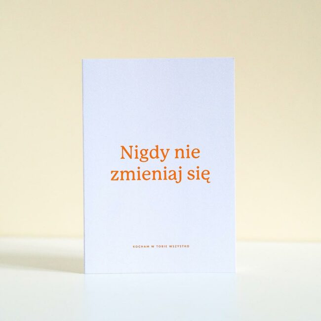 Kartka z napisem dla bliskiej osoby