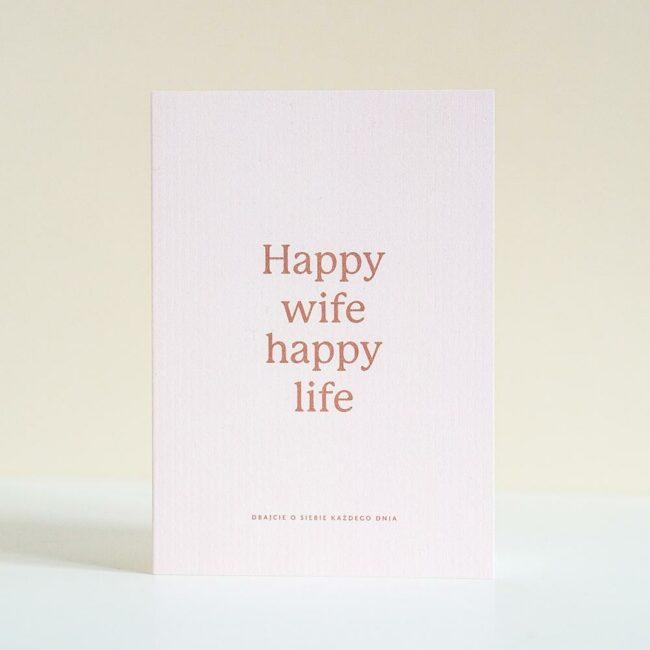 Kartka ślubna Happy Wife Happy Life