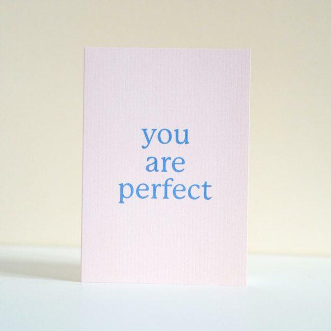 Kartka okolicznościowa You are perfect