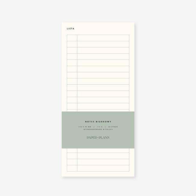 Lista zakupów notes