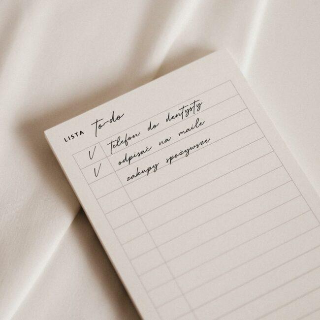 Lista zadań planer