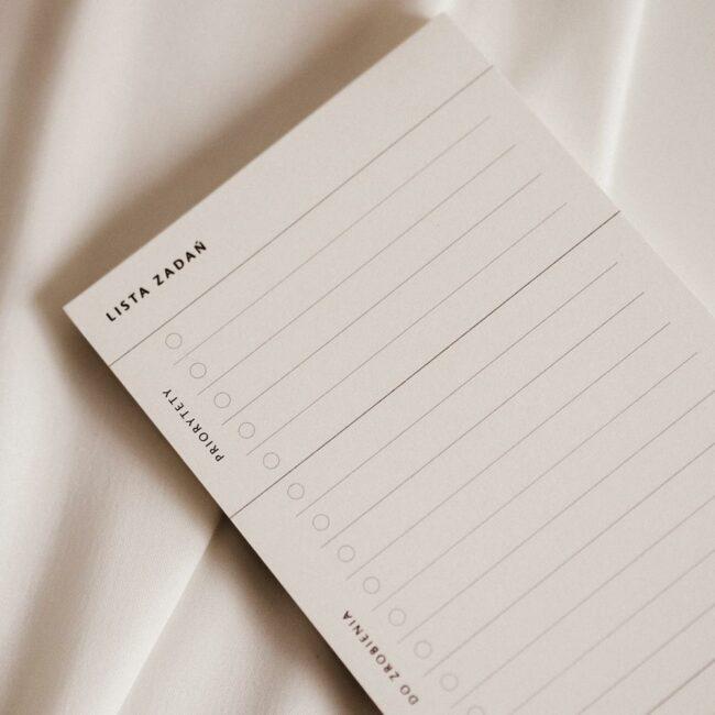 Planer zadań notes