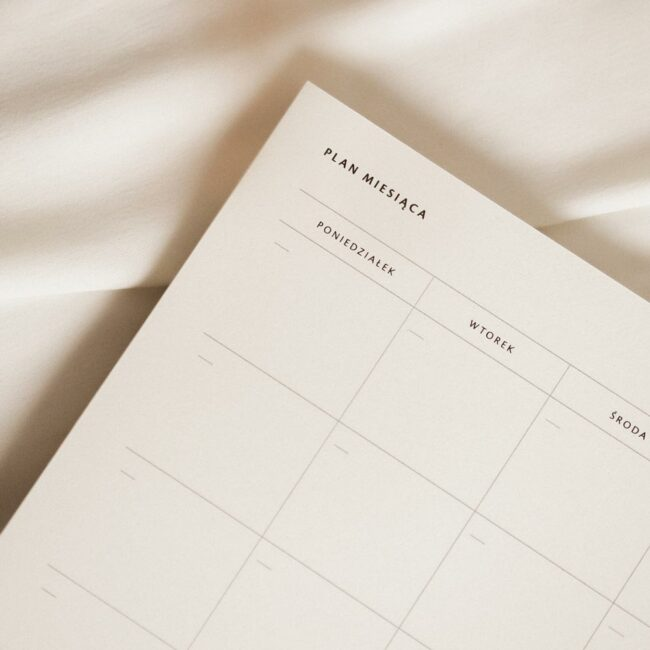 Planer miesięczny notes