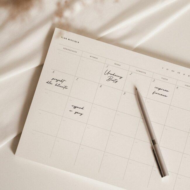 Planer biurkowy plan miesiąca