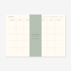 Planer miesięczny notes biurkowy