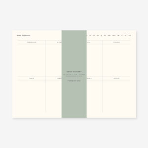 Planer tygodniowy notes biurkowy