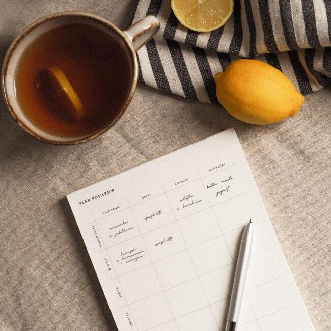 Planowanie posiłków w planerze