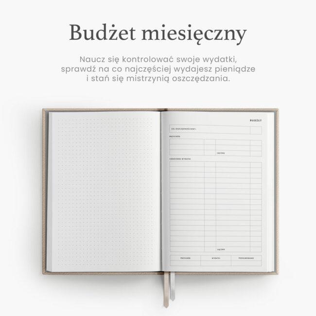 Budżet miesięczny Kalendarz 2022
