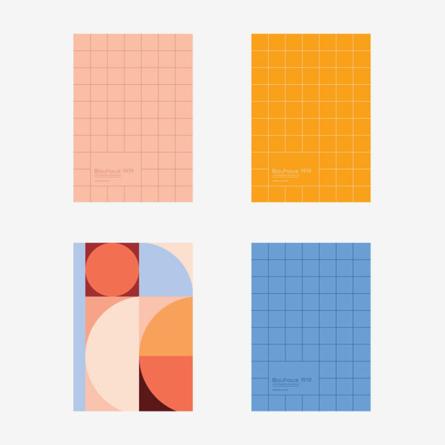 Notesy w kropki Bauhaus