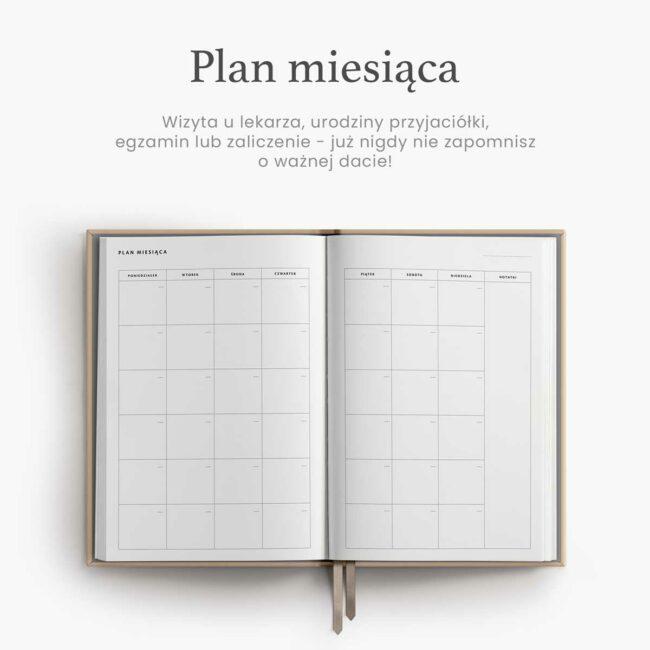 Plan miesiąca w planerze